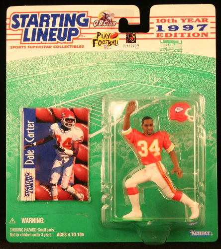 DALE CARTER / KANSAS CITY CHIEFS 1997 NFL Starting Lineup Action Figure & Exclusive NFL Collector Trading Card - 1