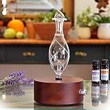 Aromatherapy Diffuser - Professional Grade - Wood and Glass (Solum Nox Vitis), Premium, Essential Oil Diffuser, Nebulizer, Professional Machine, Waterless (Color: Solum Nox Vitis)