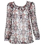 Dorothy Perkins Abstract Tunic Brown 10
