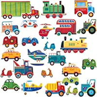 RoomMates RMK1132SCS Transportation Peel & Stick Wall Decals from RoomMates