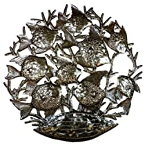 School of Fish - 24 Inch Metal Art