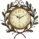 Soledi Vintage Wall Clock Classic Silent Non-ticking For Home Decoration Olive Branch Design