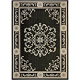 Safavieh Courtyard Collection CY2914-3908 Black and Sand Area Rug, 9 feet by 12 feet (9' x 12')