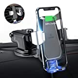 andobil Wireless Car Charger Mount, Automatic 10w Qi Fast Charging Car Phone Holder Air Vent&Dashboard Compatible with iPhone Xs/Xs Max/XR/X / 8/8 Plus, Samsung Galaxy Note 9/ S9/ S9+/ S8/ S8+ (Color: Automatic)