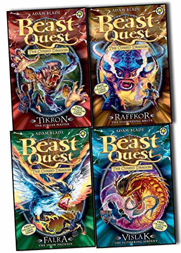Beast Quest Series 14 Collection - 4 Books Collection Pack Set (Beast Quest: 79: Raffkor the Stampeding Brute, Beast Quest: 80: Vislak the Slithering Serpent, Beast Quest: 81: Tikron the Jungle Master, Beast Quest: 82: Falra the Snow Phoenix) (Beast Quest Series 14 compare prices)
