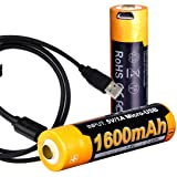 Fenix ARB-L14-1600U 1.5V USB Rechargeable 1600mAH AA Batteries (2 Pack) with LumenTac Charging Cable (Tamaño: AA)