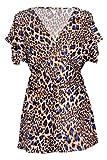 G2 Chic Women's Short Sleeve Printed Kimono Top