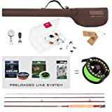 FISHINGSIR Fly Fishing Rod and Reel Combo: Fly Fishing Rod, Light Weight Fly Reel, Braided Fishing Line, Fly Fishing Line Leader Connector, 24PCS Fly Fishing Flies (Color: Fly Fishing Full Kit 3-4#, Tamaño: Fly Fishing Full Kit 3-4#)