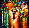 XM Art-The Girl Whith An Umbrella Elegant?Modern?Canva…