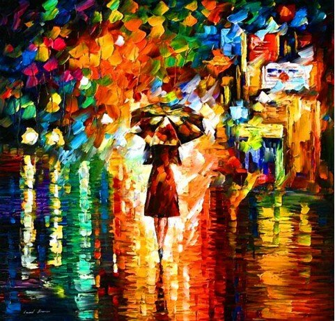 Xm Art-The Girl Whith An Umbrella Elegant Modern Canvas Art Oil Painting Unstretched And No Framed