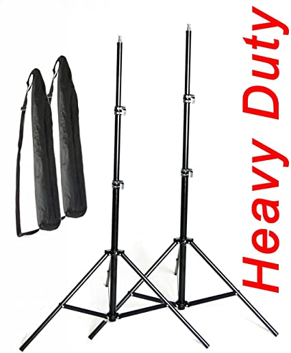 """LIGHT STANDS PRO HEAVY DUTY 7'6"""" SET OF TWO, WITH ALL METAL LOCKING COLLARS NOT PLASTIC by PBL at amazon"""