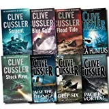 Clive Cussler Clive Cussler Dirk Pitt Series Collection 8 Books Set (Deep Six, Blue Gold, Flood Tide, Shock Wave, Serpent, Raise the Titanic, The Sea Hunters, Pacific Vortex))