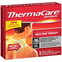 ThermaCare Air-Activated Neck, Wrist, & Shoulder Pain Therapy 3 Heat wraps ( Pack of 3)