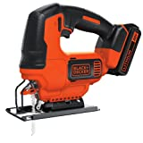 BLACK+DECKER BDCJS20C 20V MAX JigSaw with Battery and Charger (Color: black)