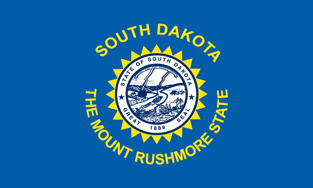 South Dakota State Flag Coloring Pages