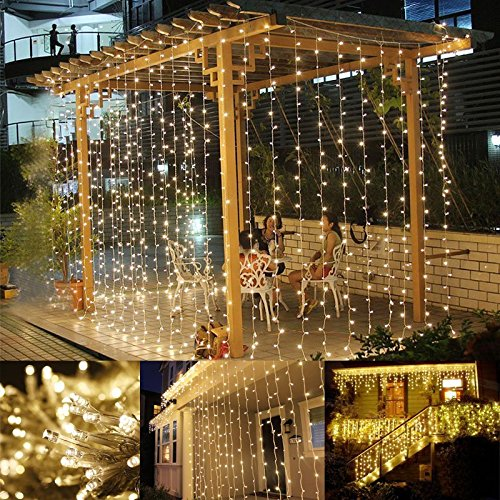 le led window curtain icicle lights 304 leds x 9. Black Bedroom Furniture Sets. Home Design Ideas