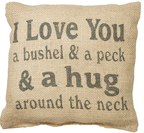 Review I Love You a Bushel & a Peck & a Hug Around the Neck Burlap Pillow
