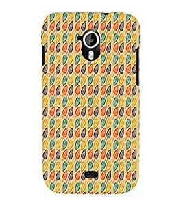 Abstract Leaf Design 3D Hard Polycarbonate Designer Back Case Cover for Micromax Canvas HD A116 :: Micromax Canvas HD Plus A116Q