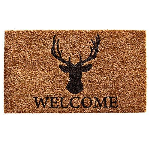 Home & More 121471729 Deer Welcome Doormat, 17