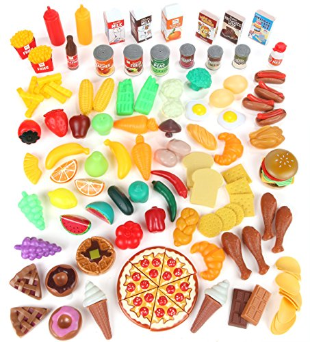 Pretend-Food-Toy-Play-Set-Huge-125-Piece-Ultimate-Kitchen-Set-Great-for-Play-Food-Kitchen-Toys