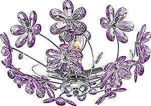 globo E14 40 Watt Chrome Ceiling Lamp, Pack of 3 Purple from globo