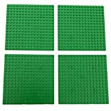 5-Inch By 5-Inch Green Dots Baseplate Lego®-Compatible 4-Pack