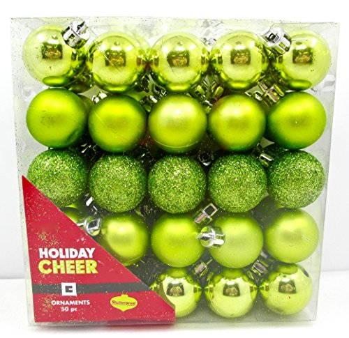 Jo-ann's Holiday Cheer Mini Bulbs,50x,glitter,shiny,matte (Lime Green)