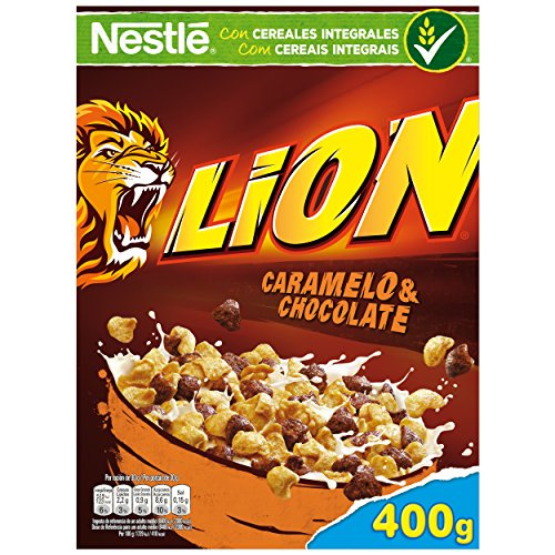 Cereales Nestlé Lion Integral Con Caramelo y Chocolate 375gr