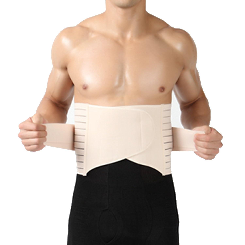 Naturfarbe Bauchweg Mieder Bauchwegguertel Body EXTRA STARK mit Flauschband Bauch weg Figur