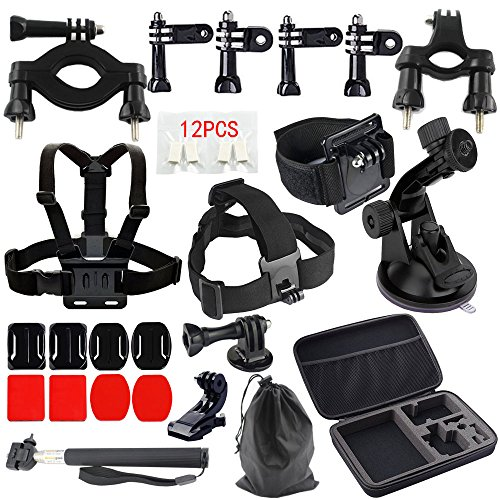 MCOCEAN Accessories Set for GoPro Hero 4 / 3 Plus / 3 / 2 and Camera (33 Items)