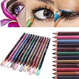 12 Color Pro Lasting Lipliner Eyeshadow Pens Eyeliner Pencil Set 04