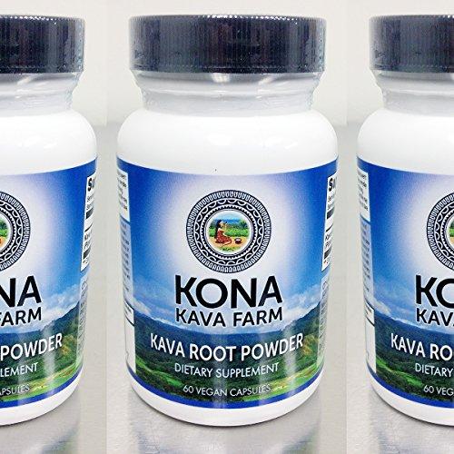 KONA KAVA Kava Extract Root Only Premium Capsules (60) (Kratom Powder Extract compare prices)