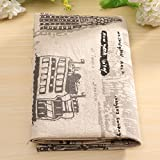 Cartoon Pattern Cotton Linen Fabric Cloth Patchwork For DIY Table Bedding Curtain (Pattern 01)