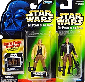 Han Solo Bespin & Luke Skywalker Yavin 2 Figuren Set - Star Wars Power of the Force Collection von Hasbro / Kenner