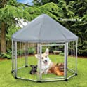 Deluxe Pet Gazebo with Removable Roof