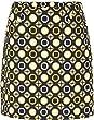 Nivo Fashion Print Skort Black/Yellow 10