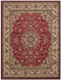 """Conur Collection Medallion Design Traditional Oriental Persian Style Area Rug Rugs (Dark Red - Burgundy, 7'9""""x9'10"""")"""