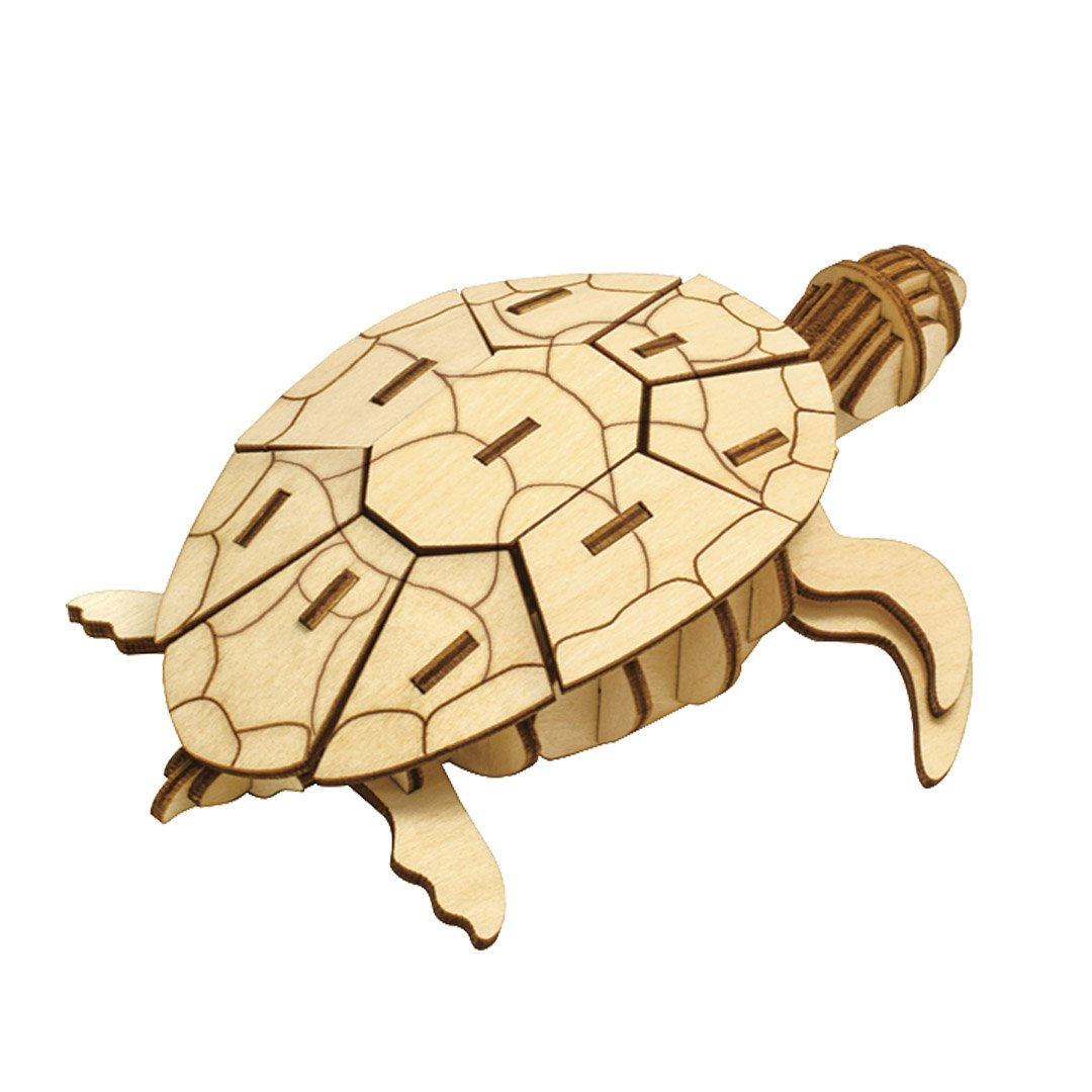 Incredibuilds 3D Wood Puzzle Model Kit Sea Turtle Honu