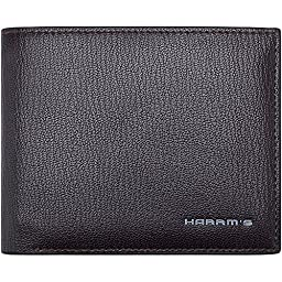 Harrms mans Genuine Leather Bifold Wallets with Designer,Ltalian Cowhide