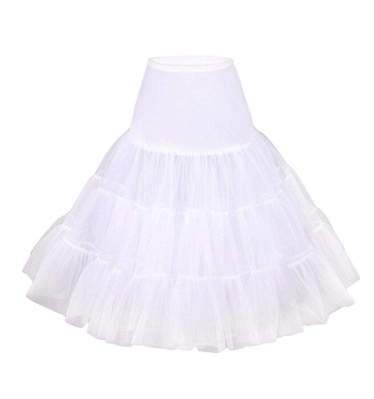 LUYAN 50er 60er Jahre Petticoat Tüllrock Rockabilly, 25″ Length Net Underskirt jetzt bestellen