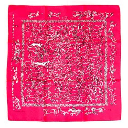 [HERMES]エルメス バンダナ スカーフ 042888507 HERMES RANCH ROSE INDI ピンク [並行輸入品]