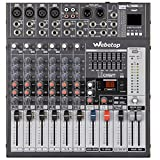 Webetop EM8 8 Channel Professional Audio Mixer with USB