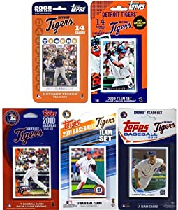 MLB Detroit Tigers 5-Different Licensed Trading Card Team Set by C&I Collectables