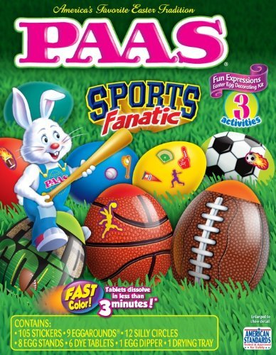 Blazin Sports Egg Decorating Kit By Paas