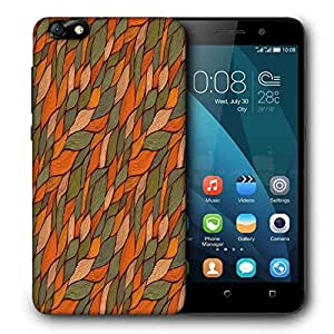 Snoogg Colorful Leaves Pattern Printed Protective Phone Back Case Cover For Huawei Honor 4X