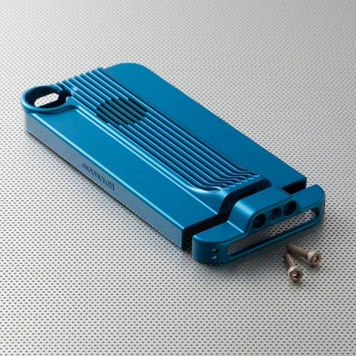 Mooncraft ジュラルミンユニット for iPhone5 blue
