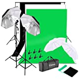 4X33 PHOTO STUDIO LIGHTING PARAGUAS CÁMARA FOTOGRAFÍA LIGHT LAMP BACKDROP KIT