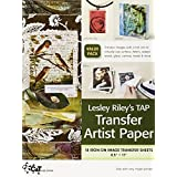 Lesley Riley's TAP Transfer Artist Paper 18-Sheet Pack: 18 Iron-on Image Transfer Sheets  8.5 x 11 ~ Lesley Riley