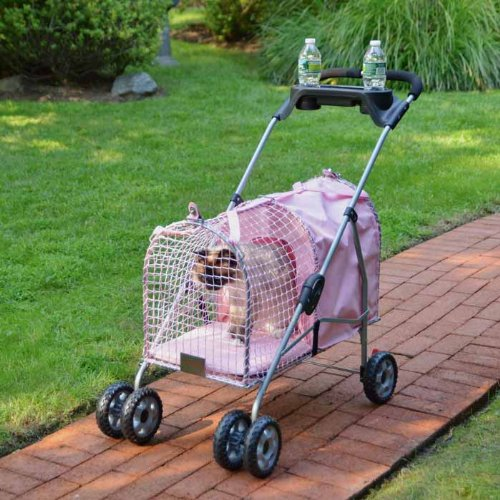 Cat Supplies 5Th Ave Pet Stroller Pink front-1014460