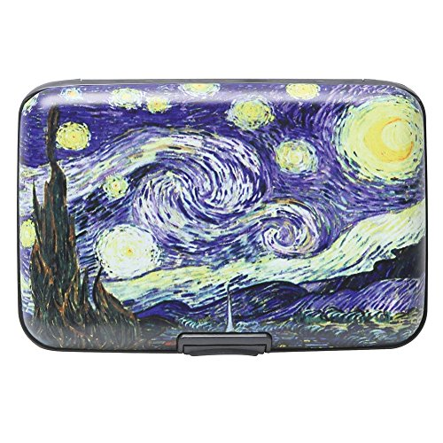 Van Gogh Starry Night RFID Data Theft Protection Credit Card Armored Wallet (Rfid Container compare prices)